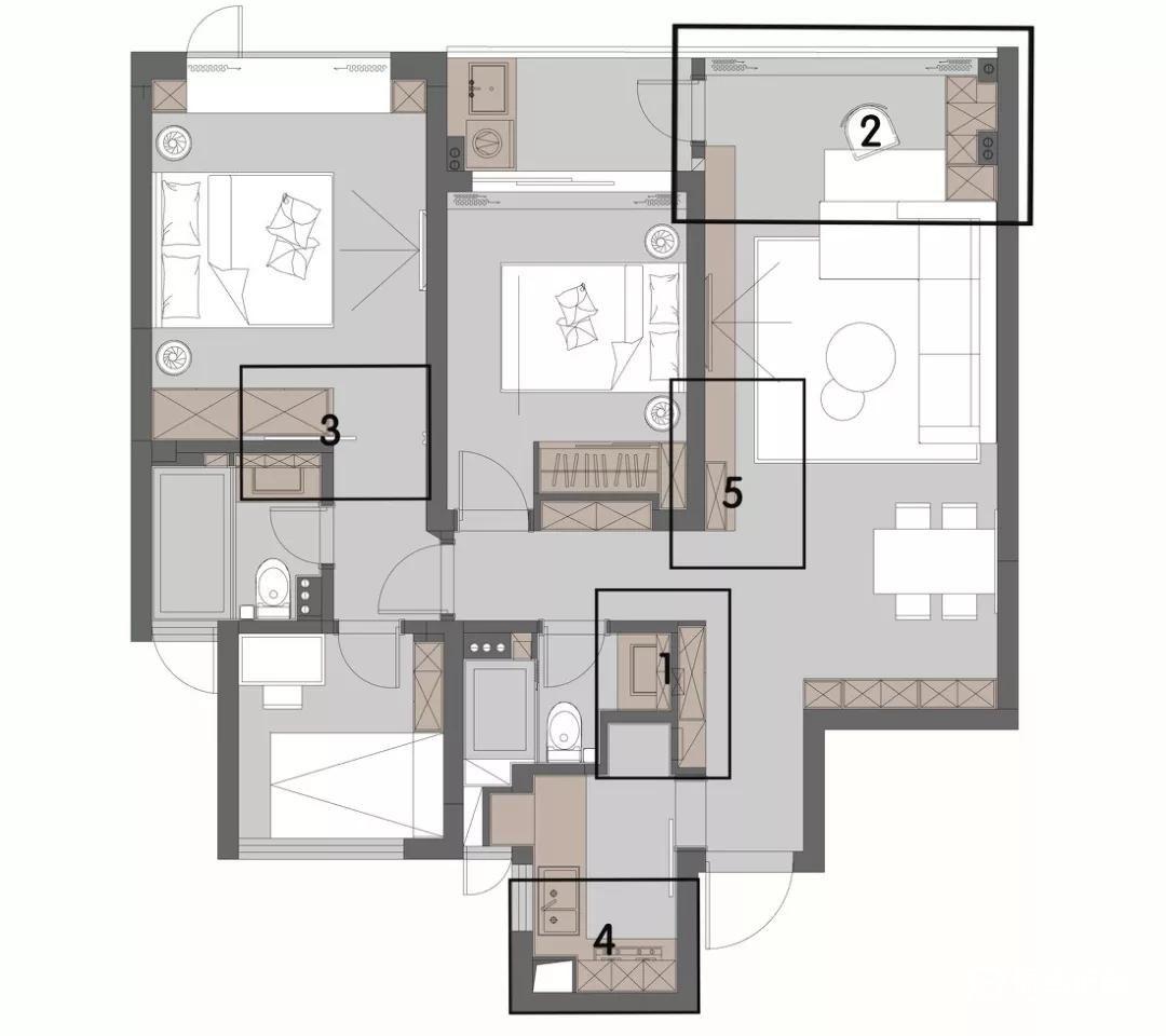 小户型三室简约装修怎么做?90平小户型三室简约装修效果图