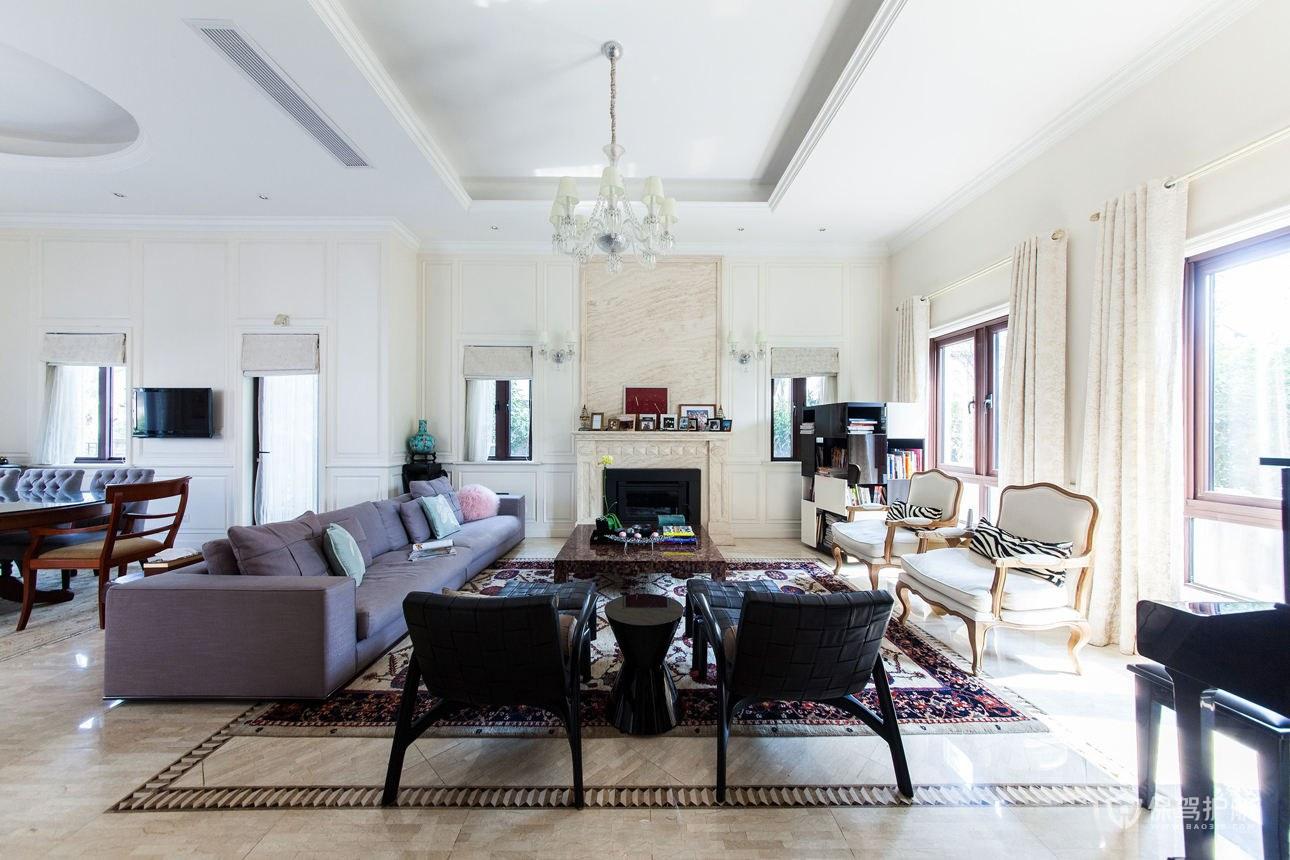 简约欧式风格别墅客厅装修效果图