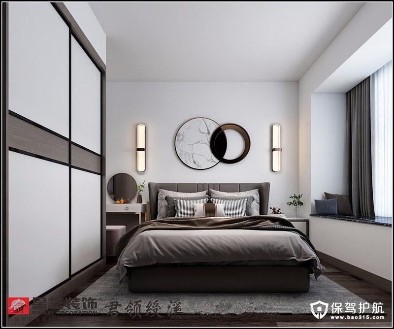 君领绶溪现代风格三居室装修效果图