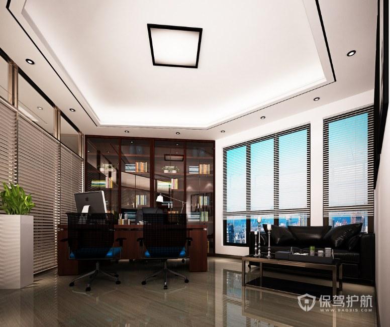 中式古典领导办公室装修效果图