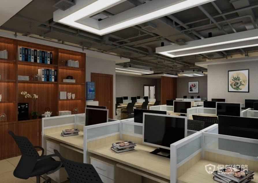简约中式公司办公区装修效果图