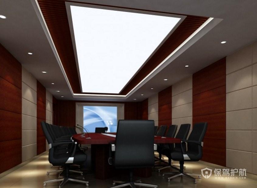 中式古典多媒体会议室装修效果图
