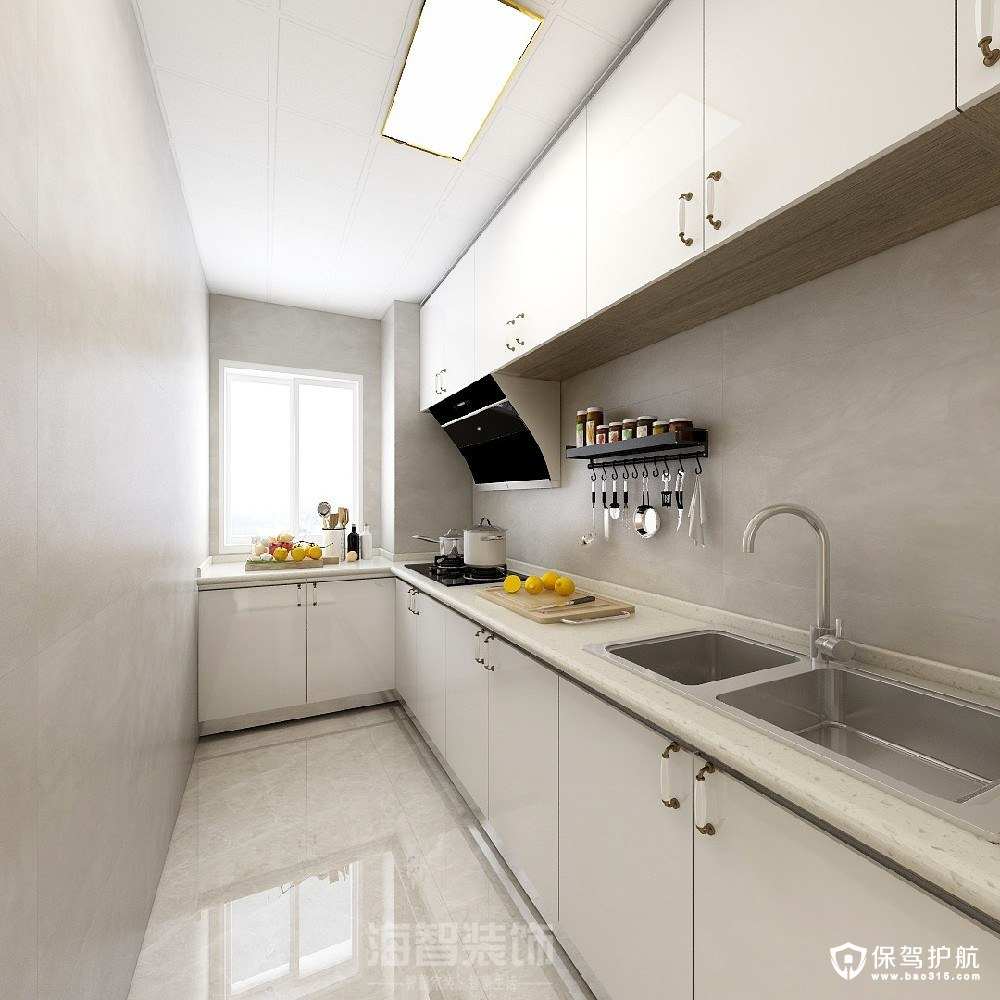 罗兰香谷新中式风格三居室装修效果图