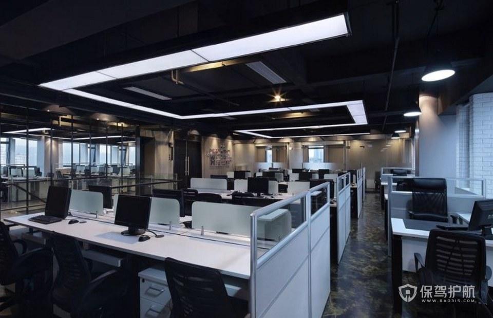 工业风格开放式办公区装修效果图