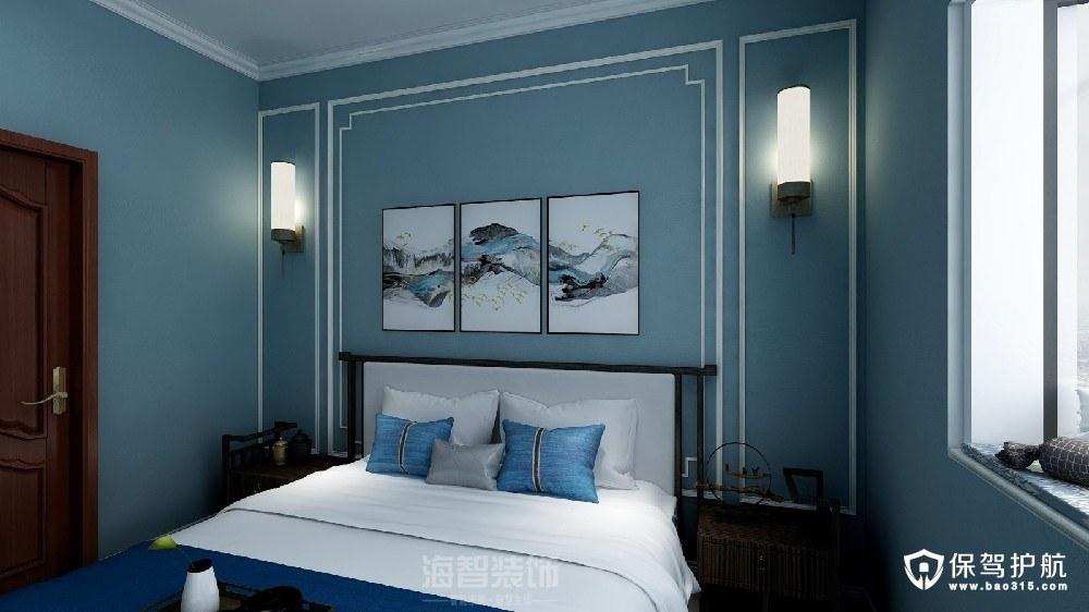 昆盛肖邦新中式风格二居室装修效果图