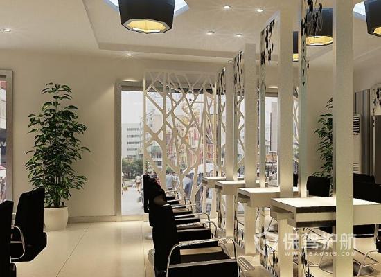 47平米欧式风格理发店装修实景图