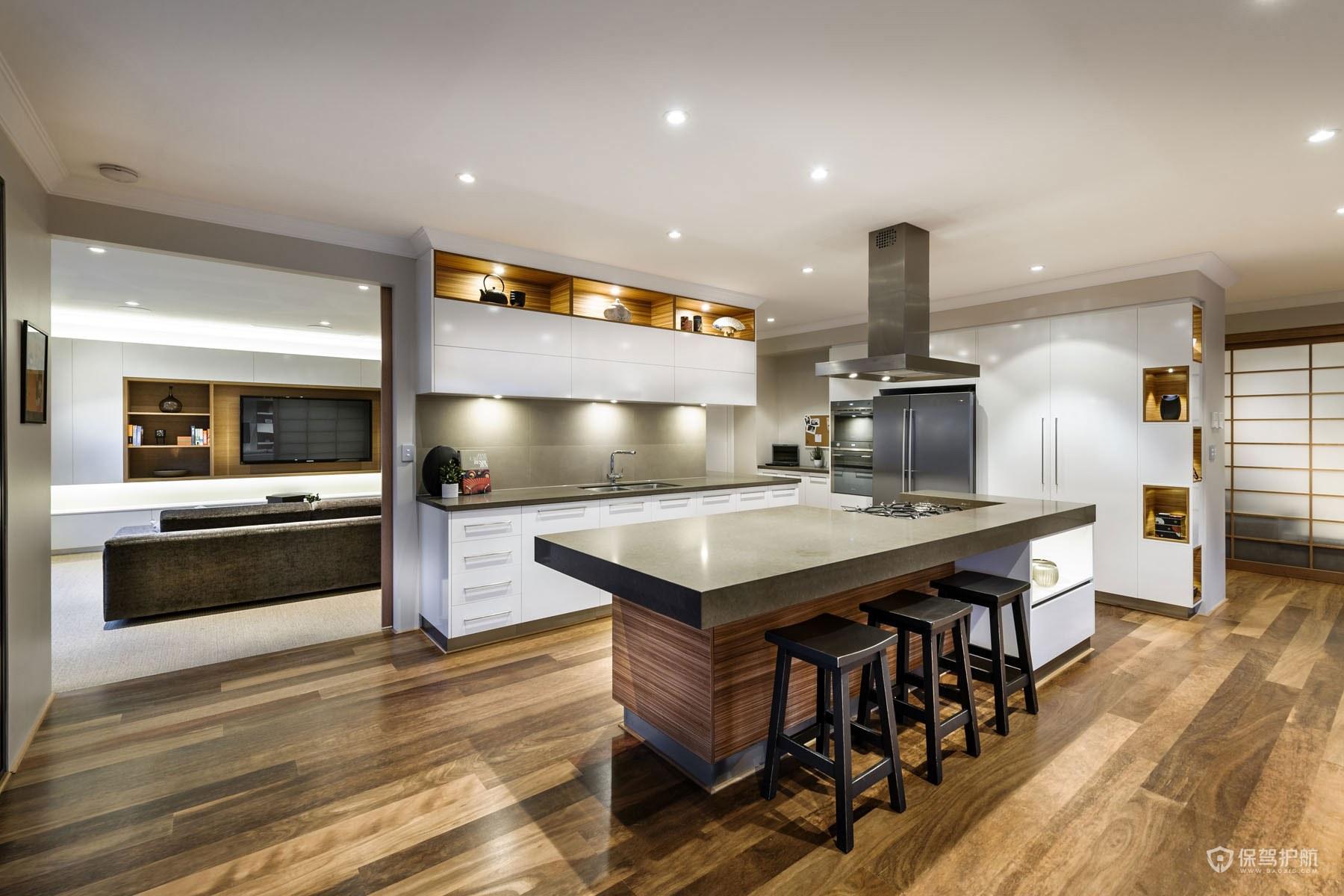 开放式厨房怎么挡油烟?开放式厨房装修技巧