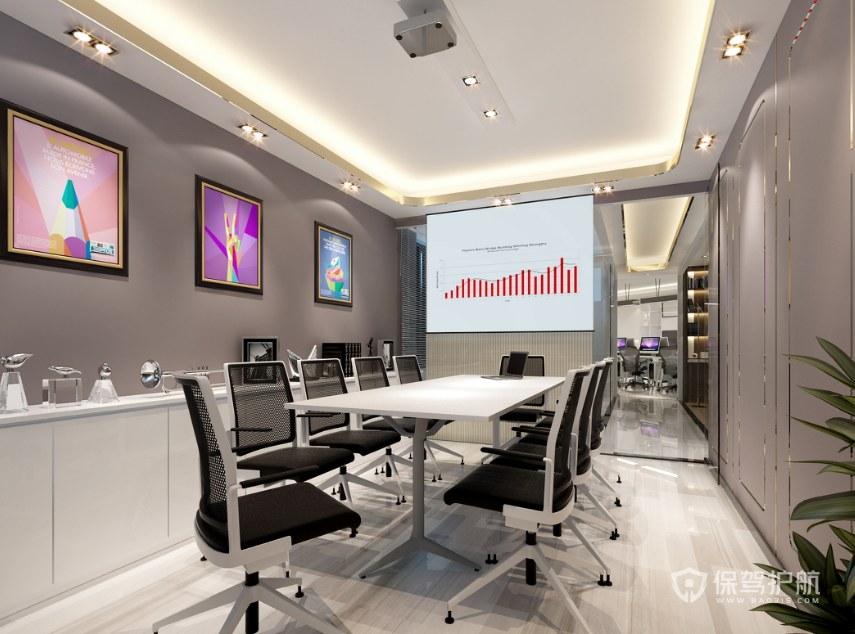 轻奢风格小会议室装修效果图