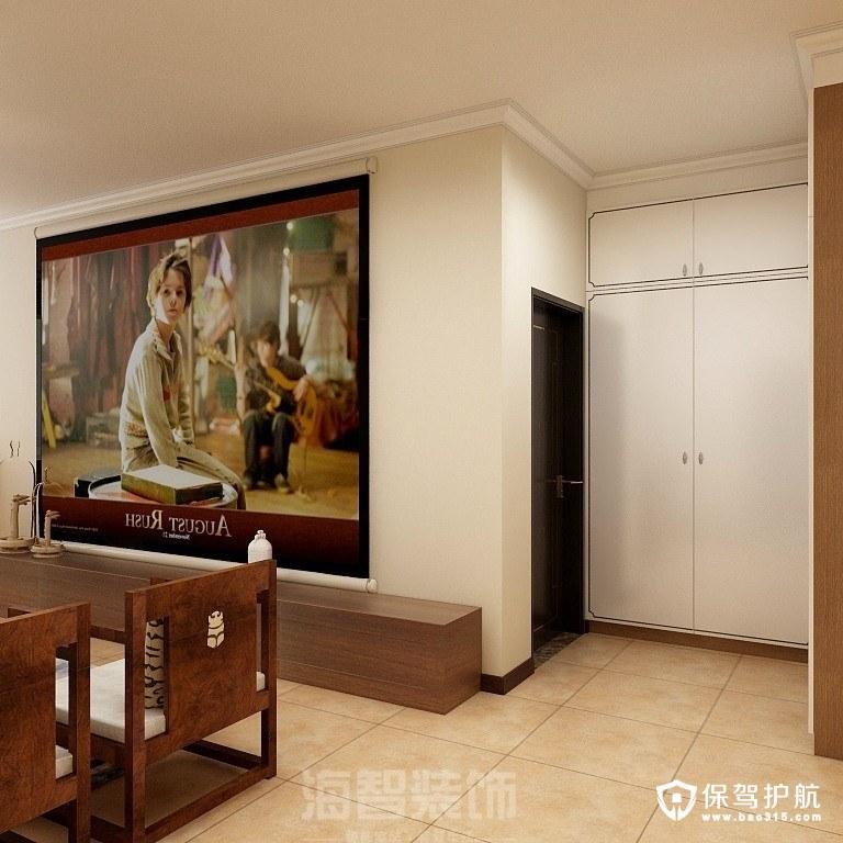 江滨澜廷新中式风格三居室装修效果图