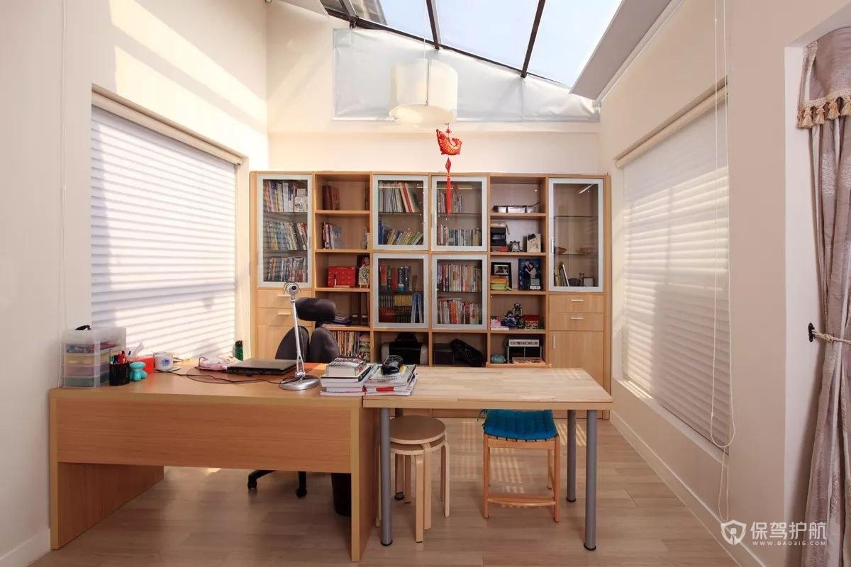 現代簡約躍層書房裝修效果圖