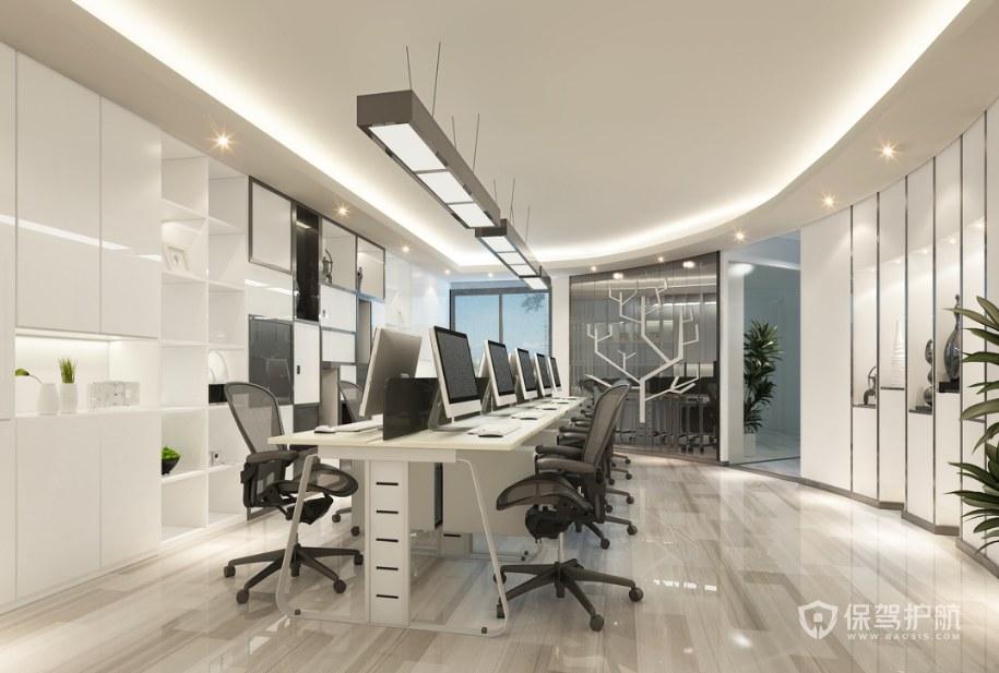 现代创意工作室办公区装修效果图