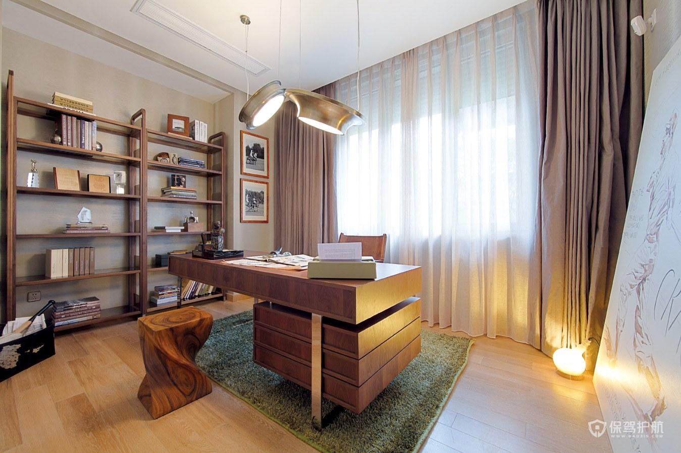 新古典风格别墅书房装修效果图