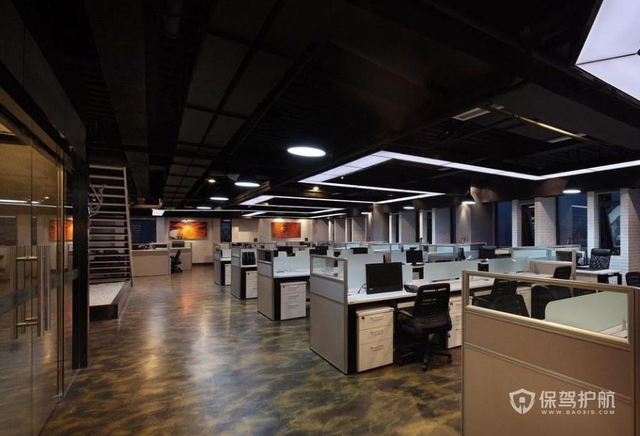 创意复古办公室办公区装修效果图