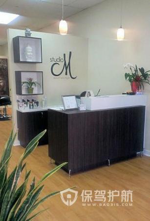 30平米现代风格理发店装修实景图