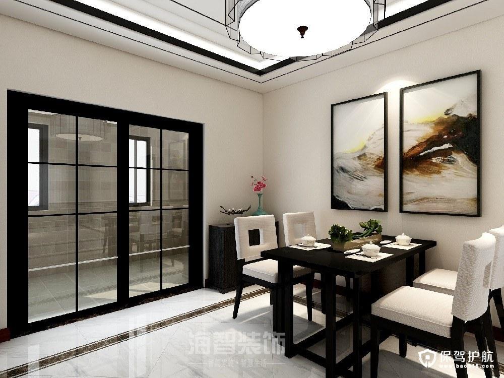 嘉润公馆新中式风格三居室装修效果图