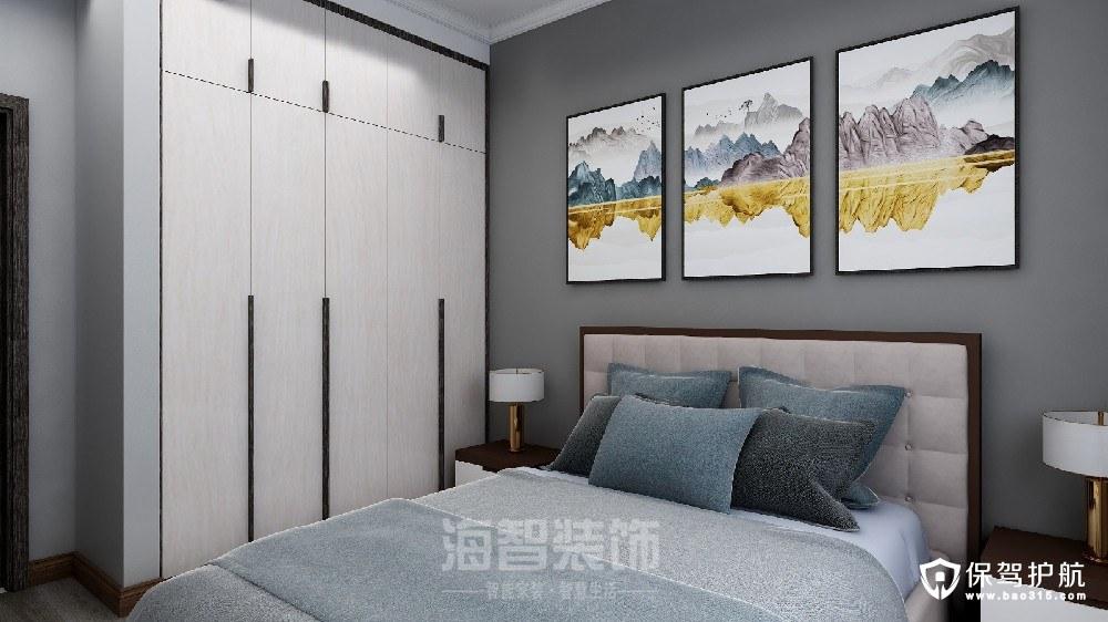 西溪公馆新中式风格三居室装修效果图