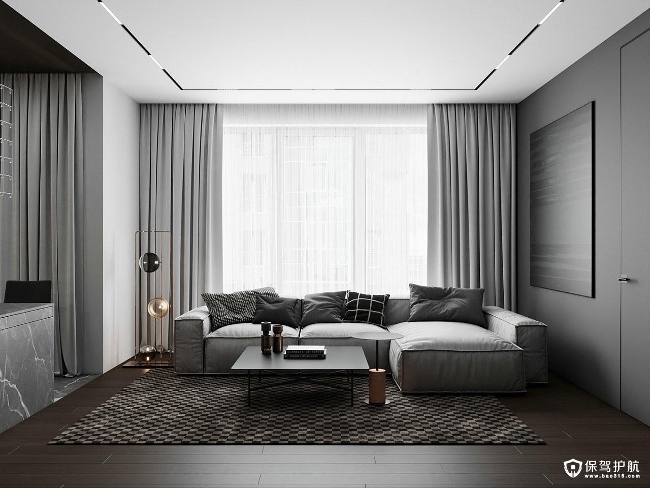桂語江南現代風格三居室裝修效果圖