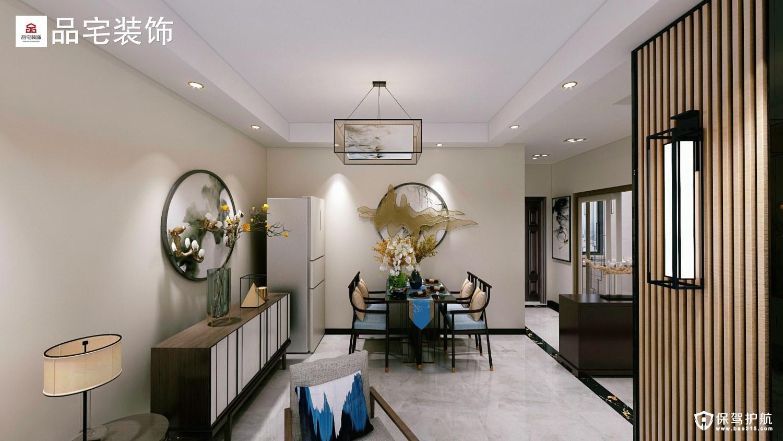 崇化小区新中式风格二居室装修效果图