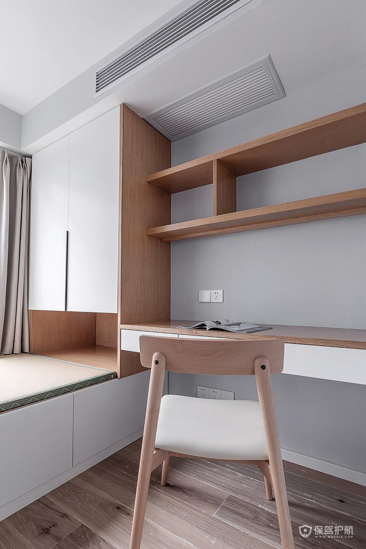 90平极简北欧风二居室书房装修效果图