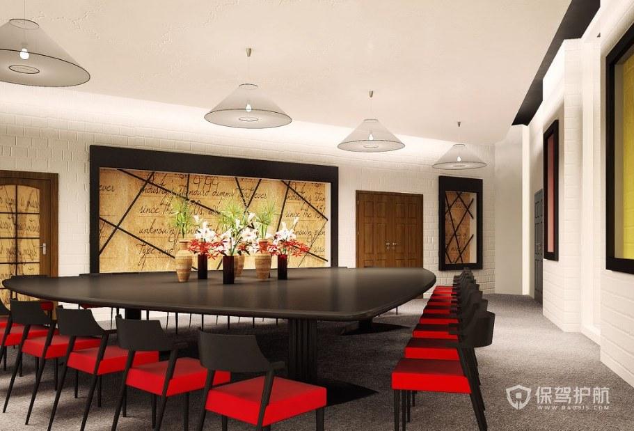不规则创意办公会议室装修效果图