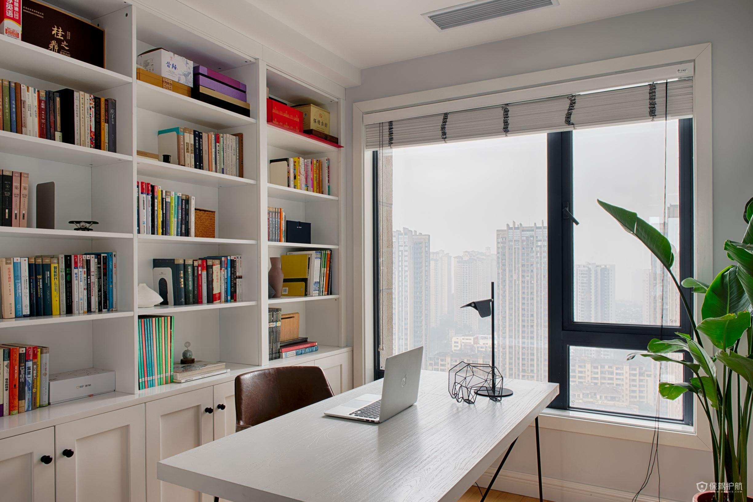 簡約美式風格三居室書房裝修效果圖