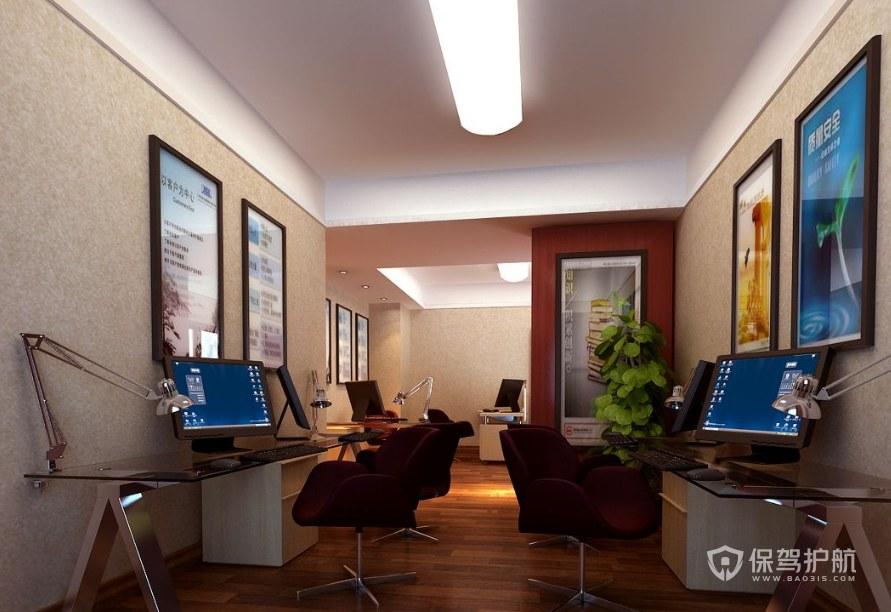 现代工作室办公区装修效果图