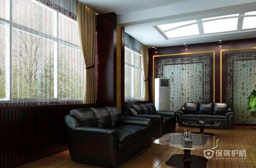 中式古典公司待客室装修效果图