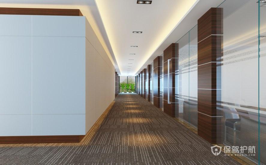 后现代时尚办公室走廊装修效果图