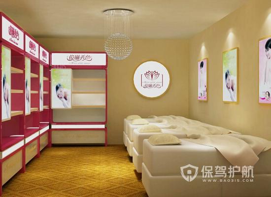 12平欧式风格美容院装修效果图