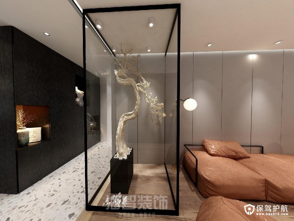 绿涛湾现代风格四居室装修效果图