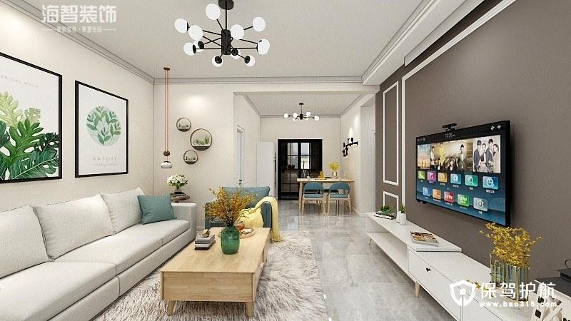 莱茵庄园106㎡清新北欧风三居室装修效果图