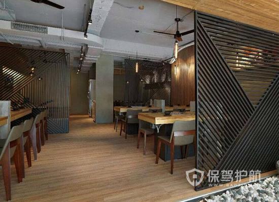55平簡約風格火鍋店裝修實景圖