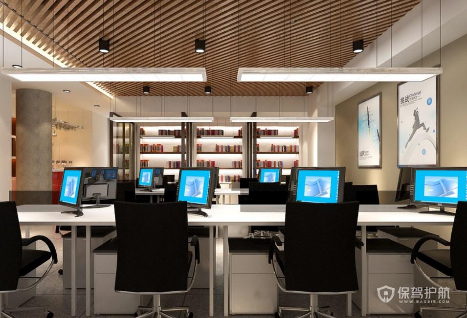 开放式大办公区装修效果图