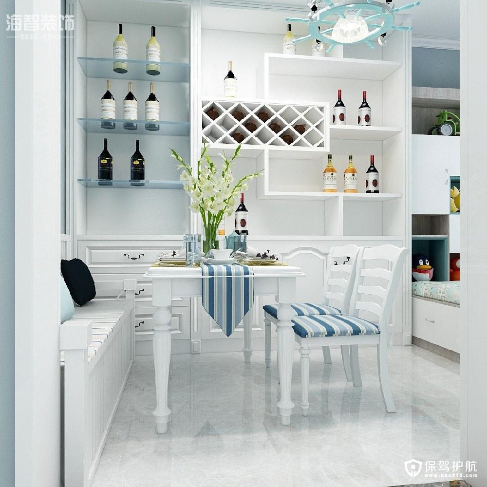 电科院小区90㎡地中海风格三居室装修效果图
