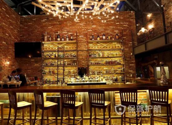 60平米工業風格咖啡廳裝修實景圖