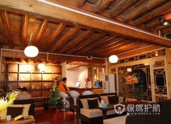 118平米原木風格咖啡廳裝修實景圖