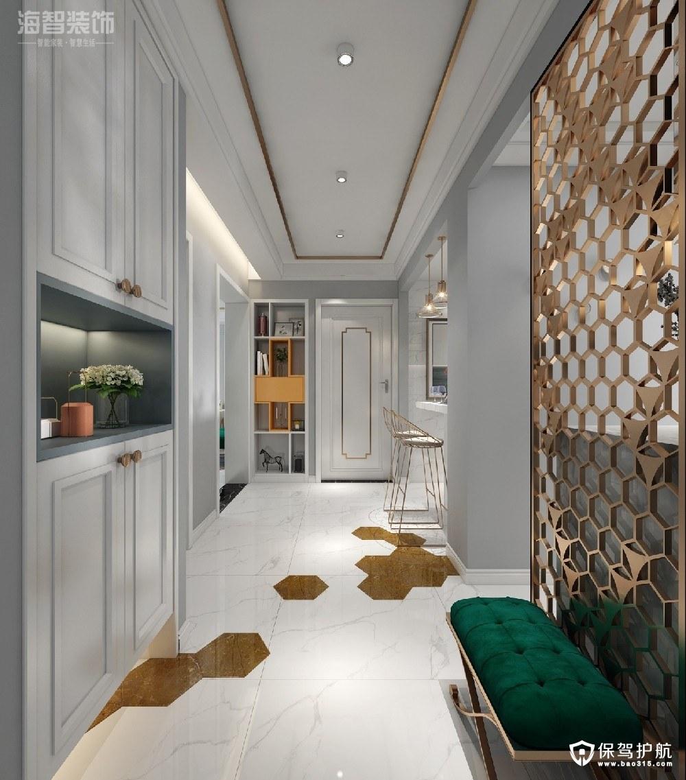 和平北路建设厅家属院87㎡轻奢风二居室装修效果图