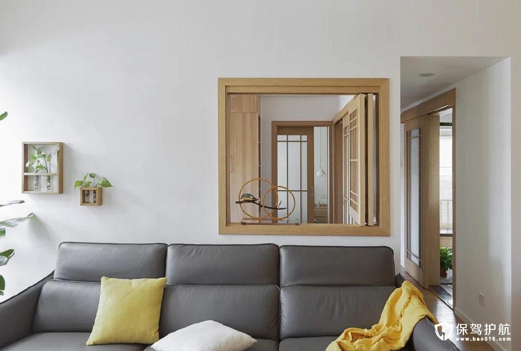 隆源国际城120平日式原木风格三居室装修效果图