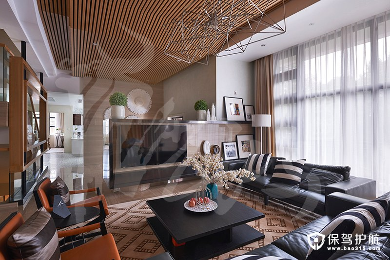 宝界山庄现代风格二居室装修效果图