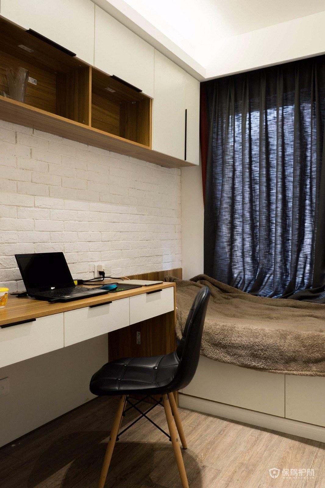 70平北欧风两居室书房装修效果图