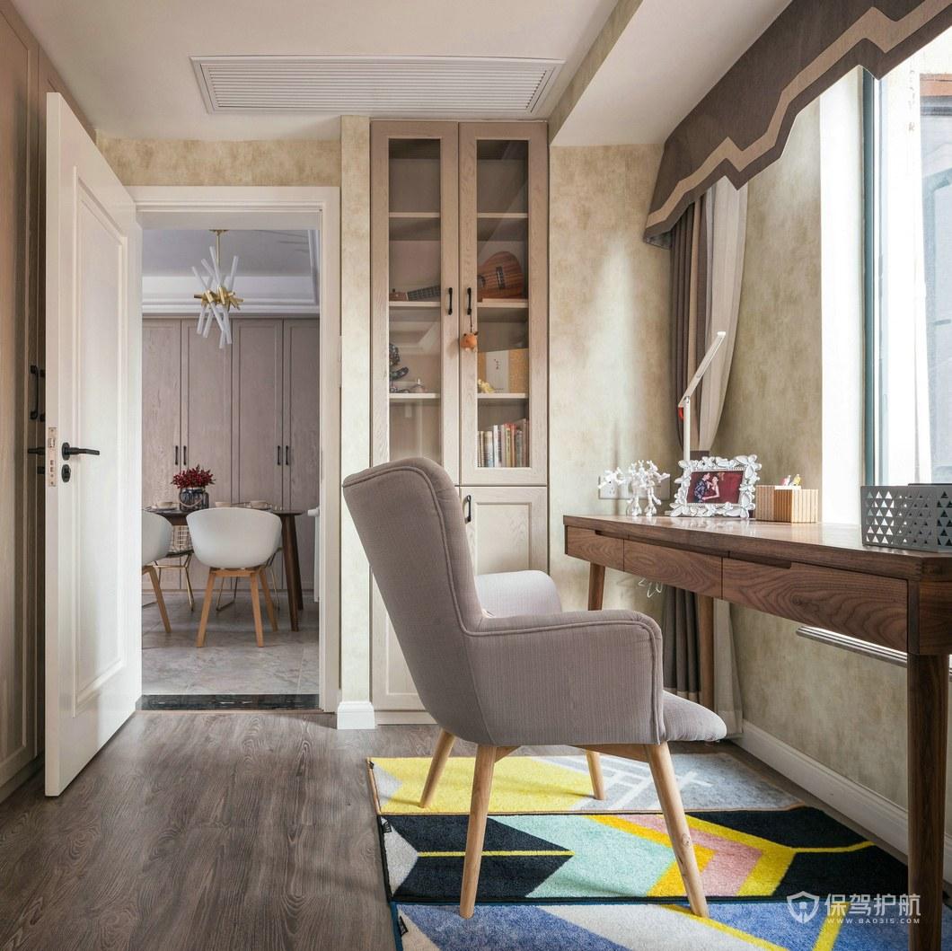 80平北欧风二居室书房装修效果图