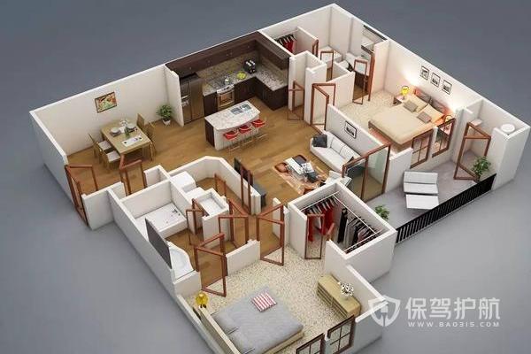 【二居室戶型圖】二居室戶型裝修效果圖