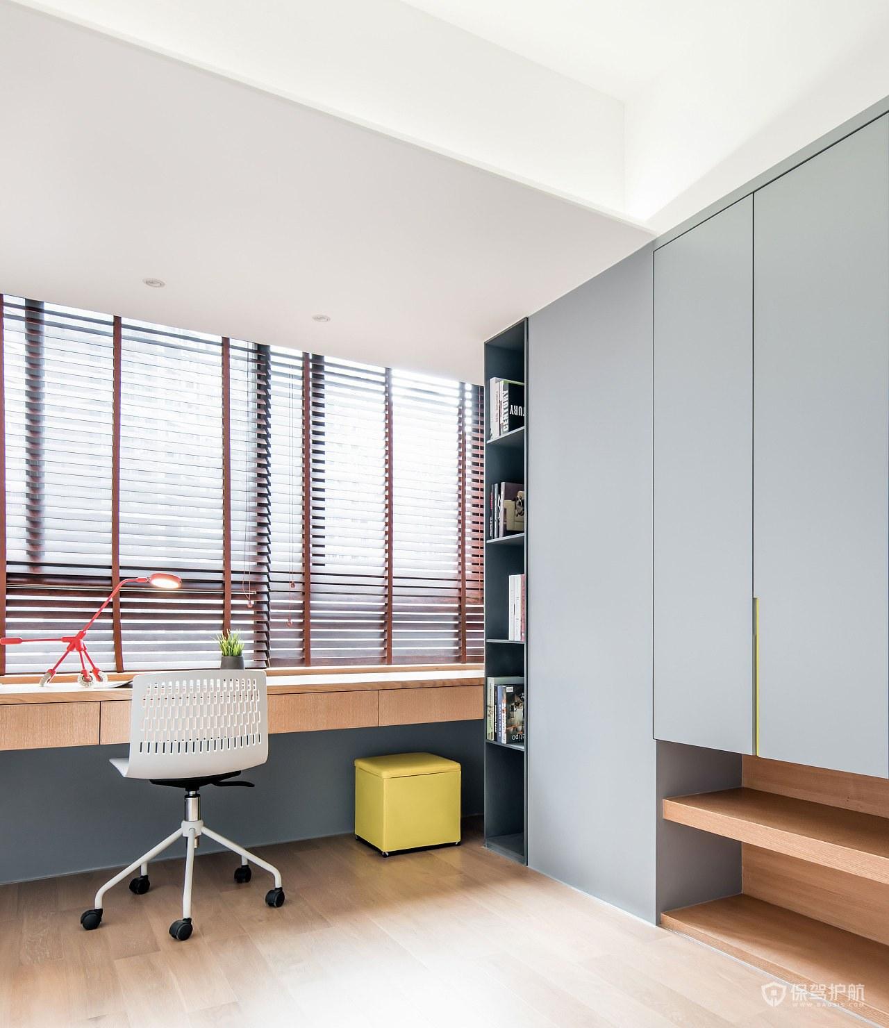 130平简约北欧风三居室书房装修效果图
