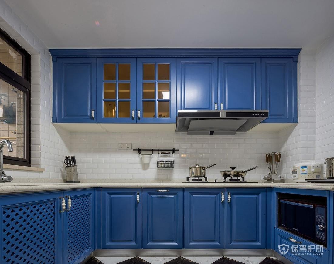 地中海风格别墅厨房装修效果图