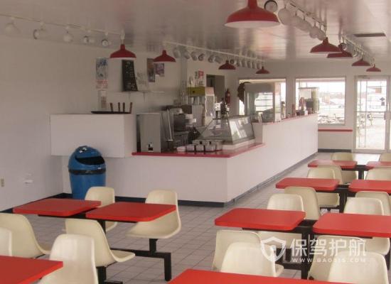 59平米現代風格小吃店裝修實景圖