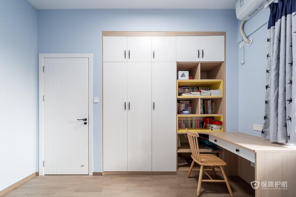 120平北欧风三居室书房装修效果图