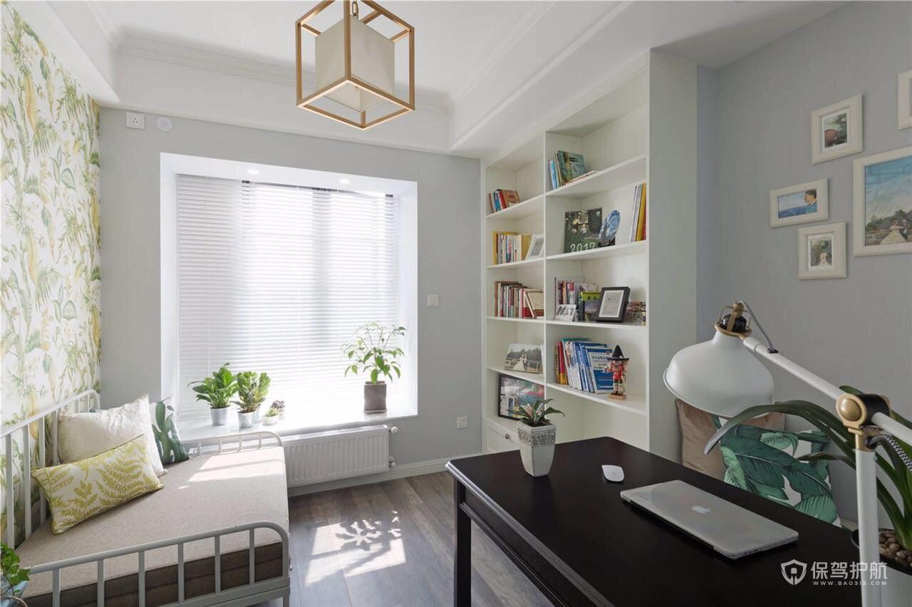 清新北欧风二居室书房装修效果图