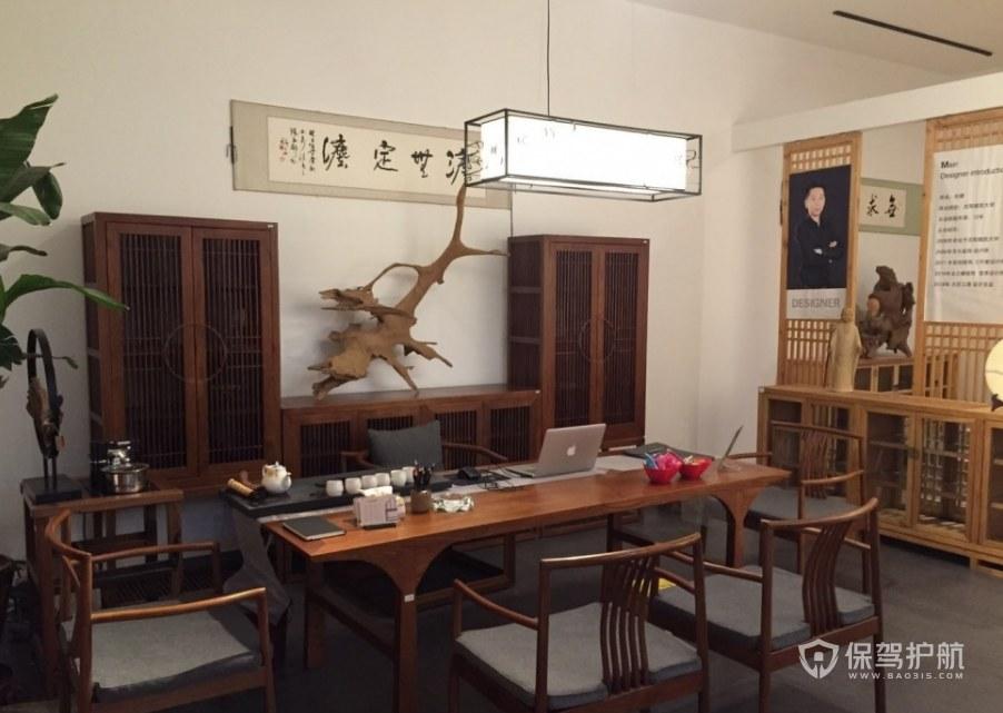 现代日式茶艺待客室装修效果图