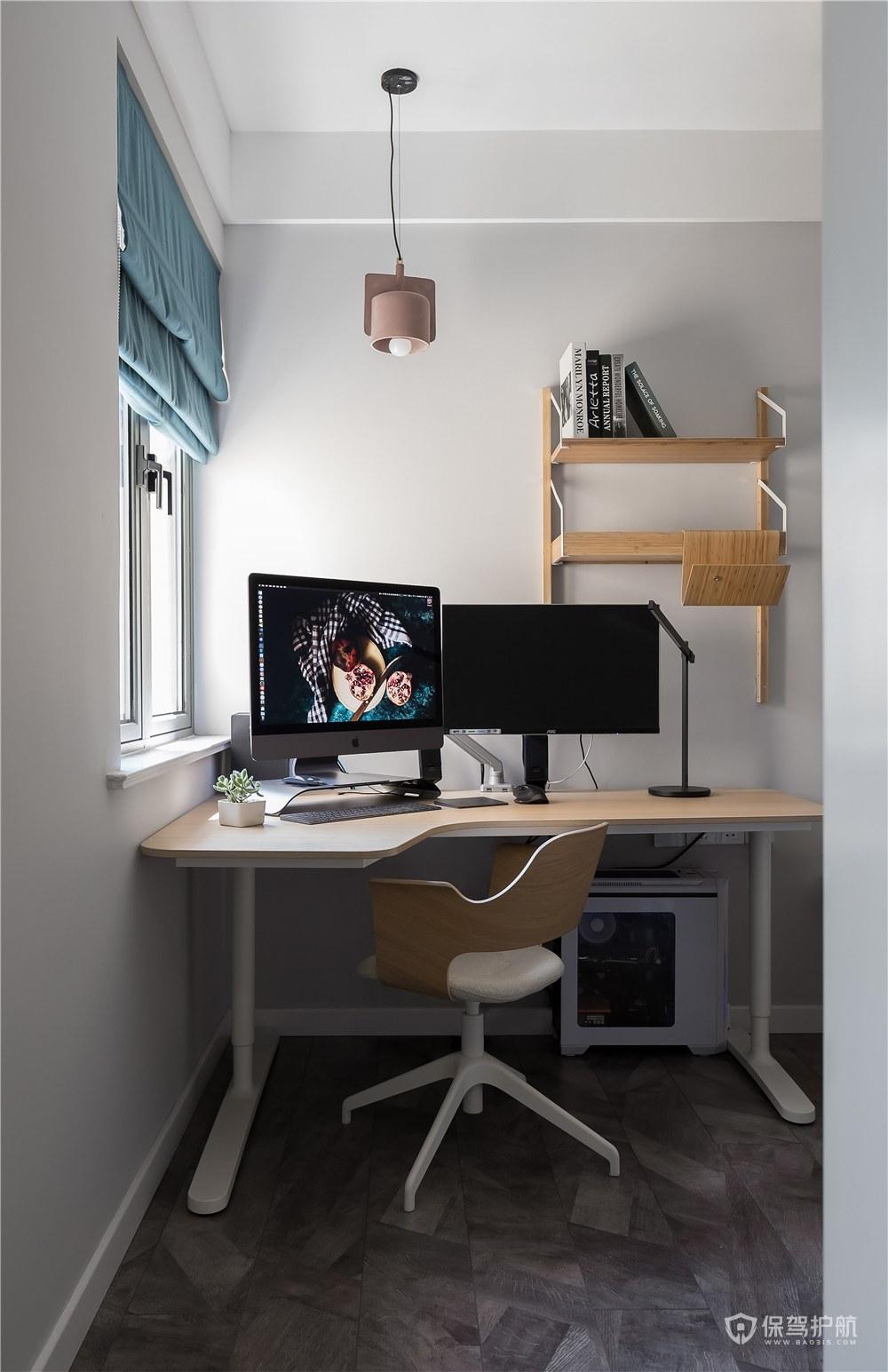 70平北欧风二居室书房装修效果图