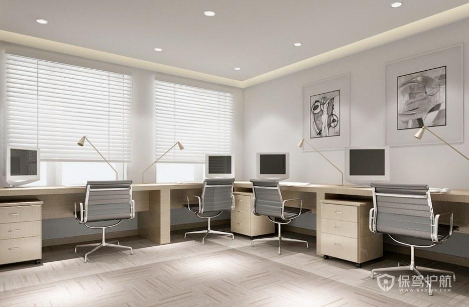 现代日式公司办公区装修效果图